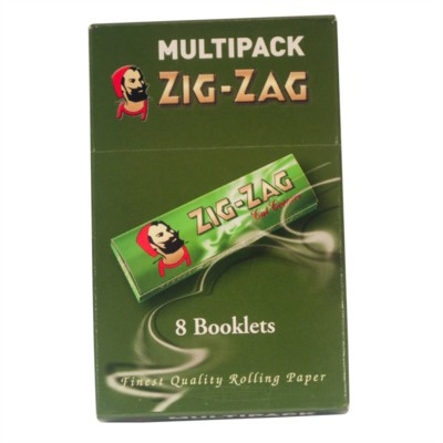 Cigarette Rolling Papers - Green - 8 Pack