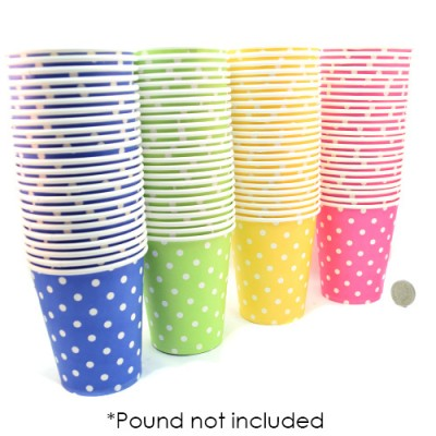 Polka Dot Paper Cups 24 Pack